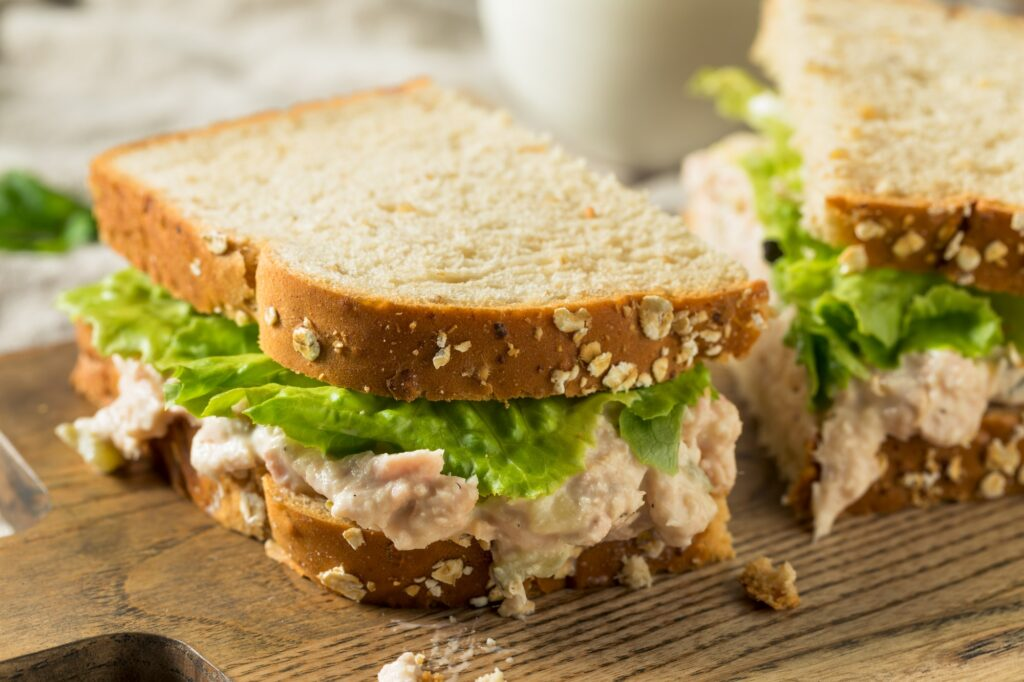 Homemade Fresh Tuna Salad Sandwich